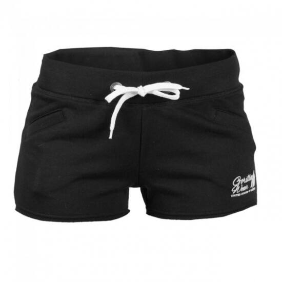 Női NEW JERSEY SWEAT SHORT fekete XS Gorilla Wear