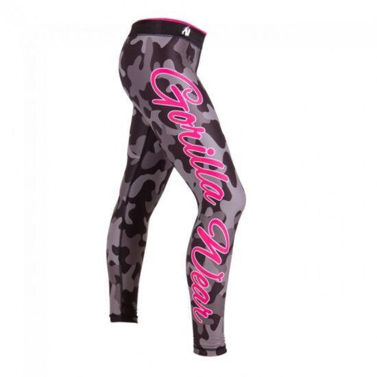 CAMO TIGHTS fekete/szürke XS leggings Gorilla Wear
