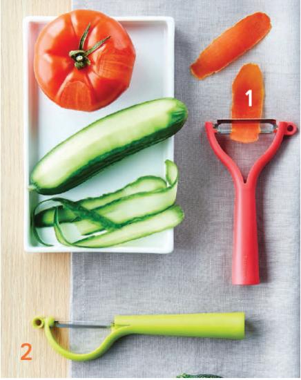 Zöldséghámozó függőleges pengével UV zöld Tupperware - 2