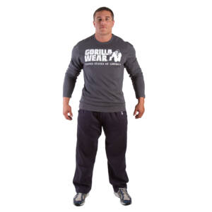 RUBBER PRINTED LONG SLEEVE szürke M Gorilla Wear db3f1f4569