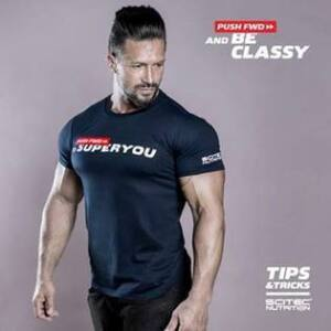 T-Shirt Push FWD Superyou férfi fekete póló Scitec Nutrition a6fabb02f9