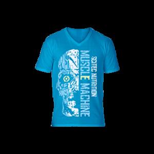 T-Shirt Sunset kék férfi póló XXL Scitec Nutrition 6aa4a9ce00