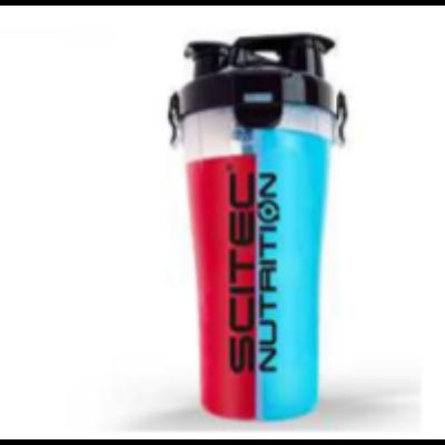 Műanyag két rekeszes shaker 700 ml (2x350ml) dual Scitec Nutrition