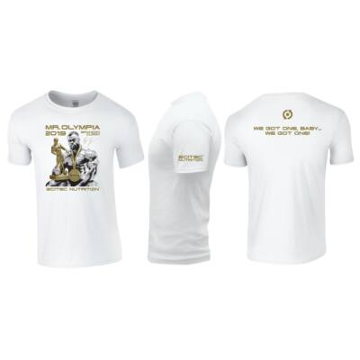 T-Shirt  Brandon Mr.Olympia 2019 férfi fehér póló Scitec Nutrition