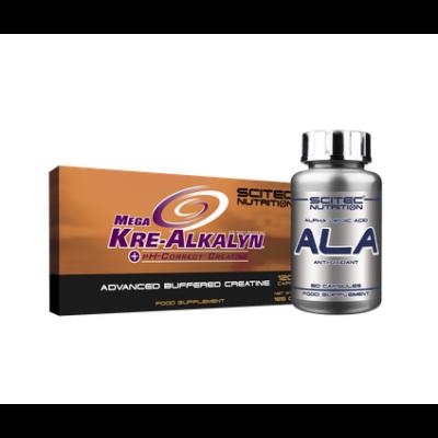 Mega Kre-Alkalyn + ALA (szett) Scitec Nutrition