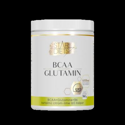 StarDiets BCAA+Glutamin+B6 360 g citrom-lime ízű italpor