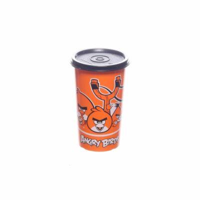 Angry Birds pohár 330ml narancssárga fekete tetővel Tupperware