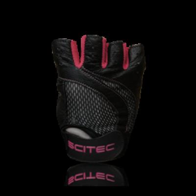 Kesztyű Scitec - Pink Style női fekete, rózsaszín Scitec Nutrition