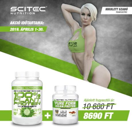 Green Series 100% Plant Protein 900g + Pure Form Vegan Protein 450g Scitec Nutrition