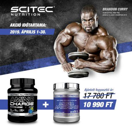 Amino Charge 570 / 600g + Mega Arginine 140 kapsz. Scitec Nutrition AKCIÓ