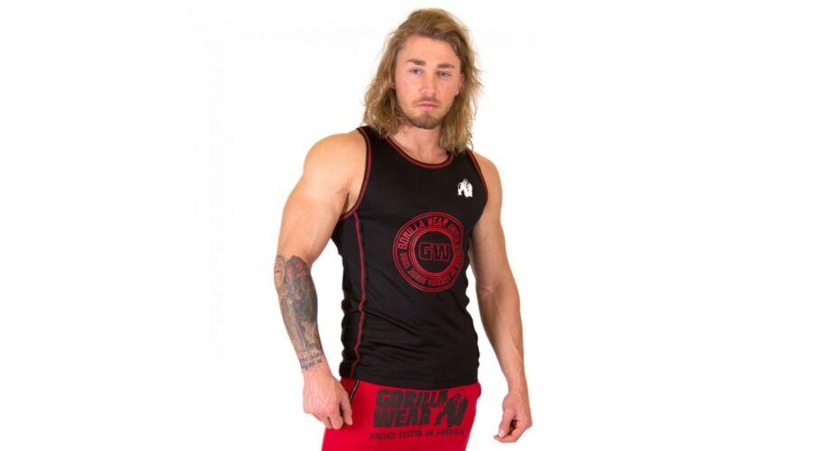 4600c53a75 Kenwood Tank Top fekete/piros férfi trikó Gorilla Wear - FÉRFI PÓLÓ